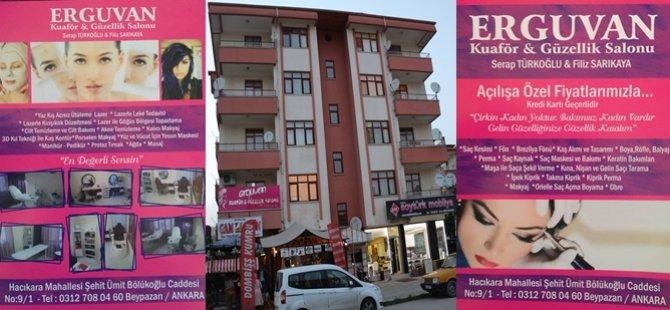 Beypazarına Yeni Bir Güzellik ve Kuaför Salonu Açıldı '' ERGUVAN ''