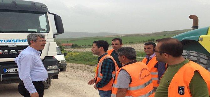 Başkan KAPLAN Çevre Yolu Çalışmalarını İnceledi