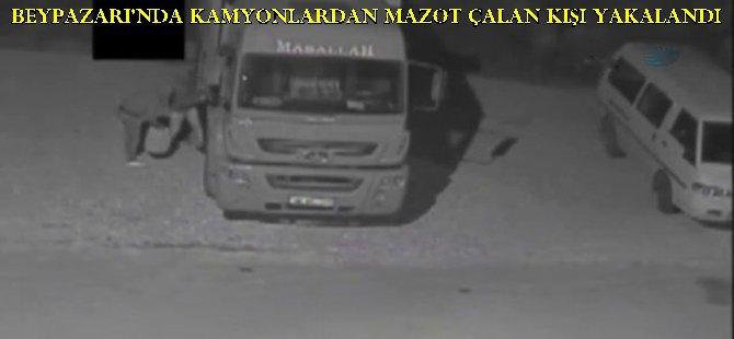 Beypazarı'nda Kamyonlardan Mazot Çalan Kişi Yakalanarak Tutuklandı..