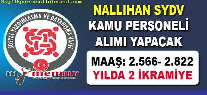 Nallıhan SYDV kamu personeli alımı ilanı