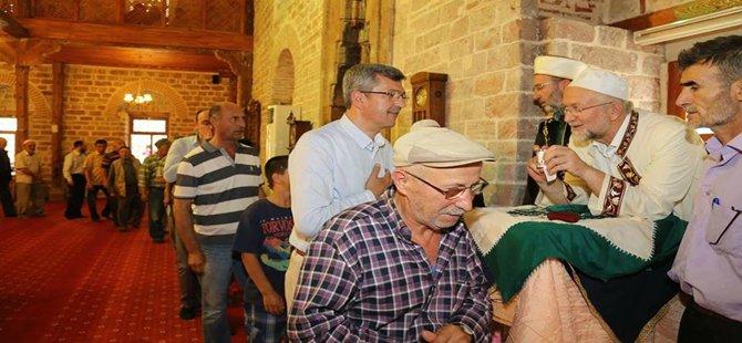 Beypazarı'nda Sakal-ı Şerif Sultan Alaaddin Camisi'nde Ziyarete Açıldı
