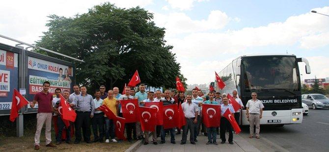BEYPAZARI, ANKARA KIZILAY'DAKİ '' DEMOKRASİ ve ŞEHİTLER '' MİTİNGİNE OLUK OLUK AKTI..