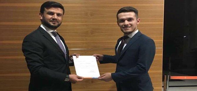 Beypazarı Ak Parti Gençlik Kolları Başkanlığına Samet Taşçıoğlu Atandı