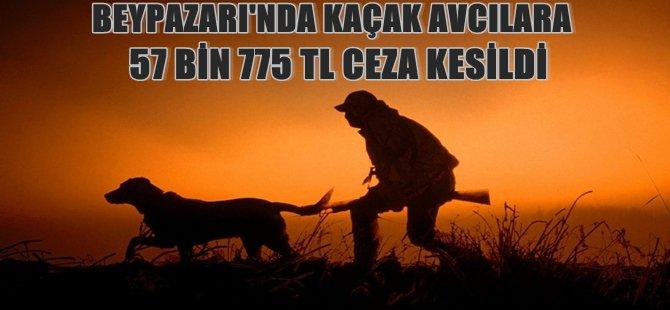 BEYPAZARI'NDA KAÇAK AVCILARA 57 BİN 775 TL CEZA KESİLDİ 12 TÜFEK 2 ARACA EL KONDU