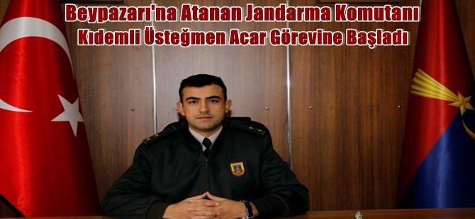 Beypazarı'na Atanan Jandarma Komutanı Kıdemli Üsteğmen Acar Görevine Başladı