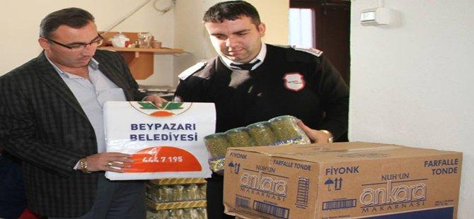 Beypazarı Belediyesi Sosyal İşler Müdürlüğü İhtiyaç Sahibi Ailelere Gıda Yardımında Bulundu