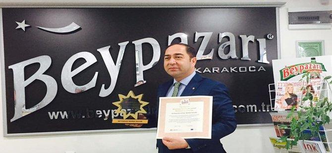 2016 YILININ DÜNYA KALİTE ÖDÜLÜ BEYPAZARI MADEN SUYUNA VERİLDİ...