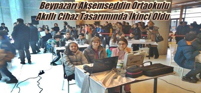 Beypazarı Akşemseddin Ortaokulu Akıllı Cihaz Tasarımında İkinci Oldu