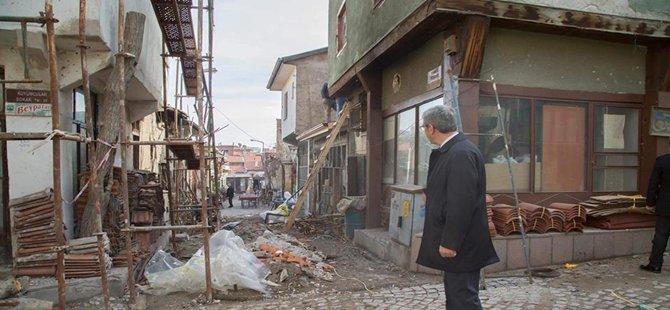 Beypazarı'da Belediyesi Dış Cephe ve Yenileme Çalışmalrına Başladı