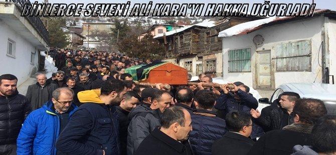 BEYPAZARLI ve KARAŞARLI BİNLERCE SEVENİ ALİ KARA'yı HAKKA UĞURLADI...