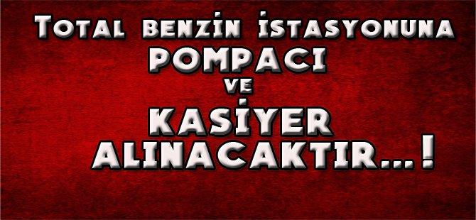 BEYPAZARI TOTAL AKARYAKIT İSTASYONUNA ''POMPACI'' ve ''KASİYER'' BAY-BAYAN ELEMANLAR  ARANIYOR