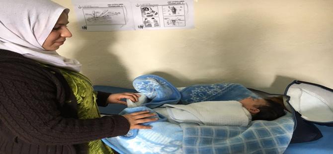 Beypazarı'ndaki Suriyeli çocuklara sağlık ve gelişim taraması yapıldı