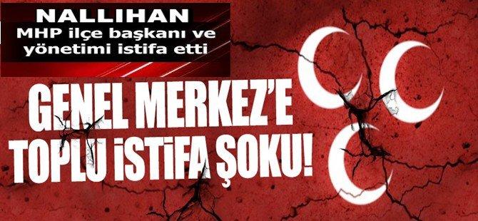 MHP Genel Merkezi'ne Toplu İstifa Şoku! Nallıhan İlçe Teşkilatı Komple İstifa Etti