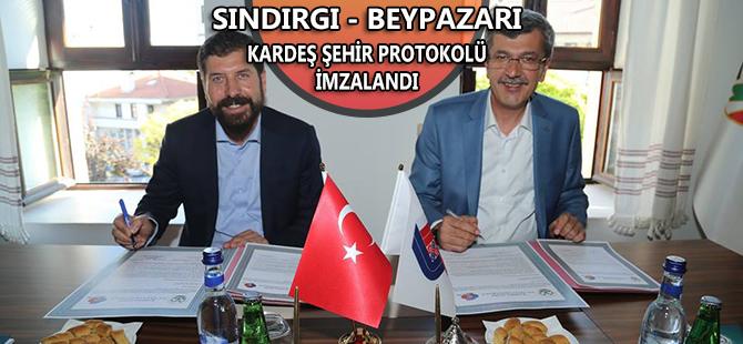 BEYPAZARI - SINDIRGI KARDEŞ ŞEHİR PROTOKOLÜ İMZALANDI