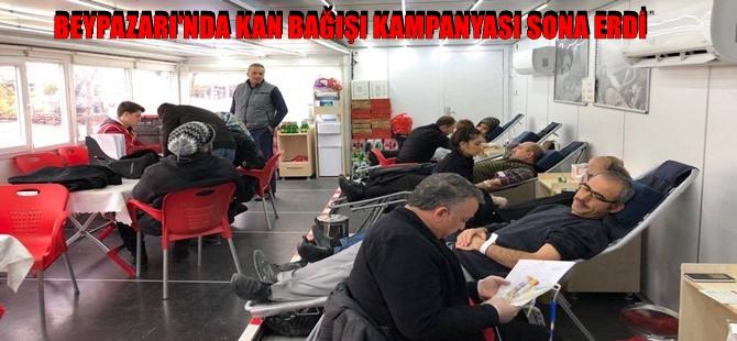 BEYPAZARI'NDA KAN BAĞIŞI KAMPANYASI SONA ERDİ