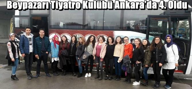 Beypazarı Tiyatro Kulübü Ankara'da 4. Oldu