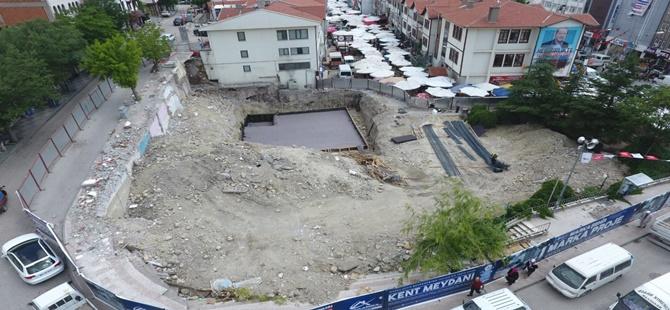 Beypazarı Hanlarönü Kent Meydanı Çalışmaları Sürüyor