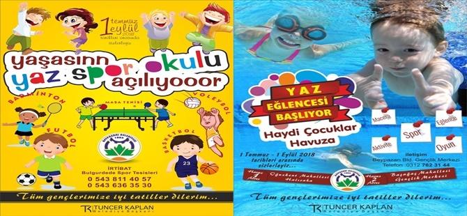 Yüzme Kursu ve Yaz Spor Okulu Kayıtlarına Başlanılmıştır