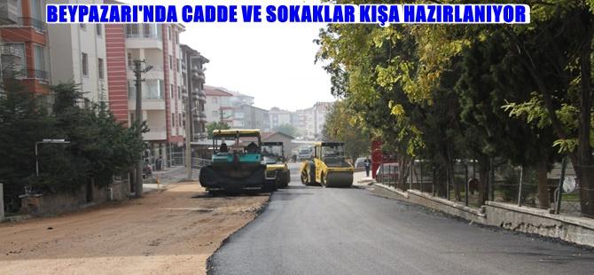 BEYPAZARI'NDA CADDE VE SOKAKLAR KIŞA HAZIRLANIYOR