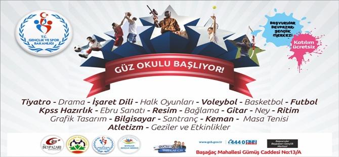 Beypazarı Belediyesi ve Beypazarı Gençlik Merkezi Güz Kursları Başlıyor