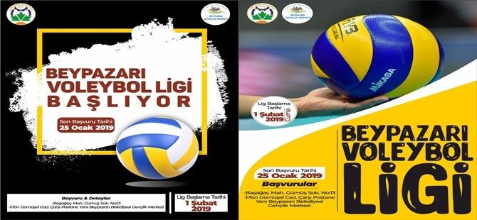 Beypazarı Belediyesi Yerel Voleybol Ligi Başlıyor