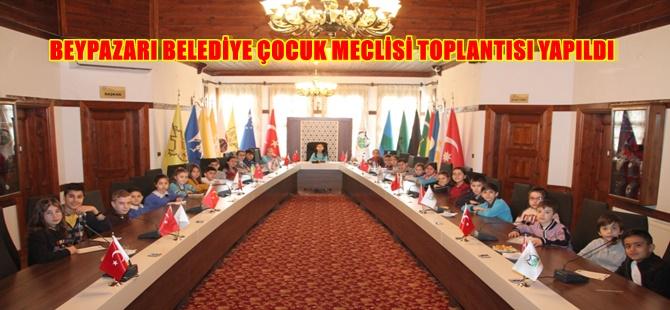 BEYPAZARI BELEDİYE ÇOCUK MECLİSİ TOPLANTISI YAPILDI