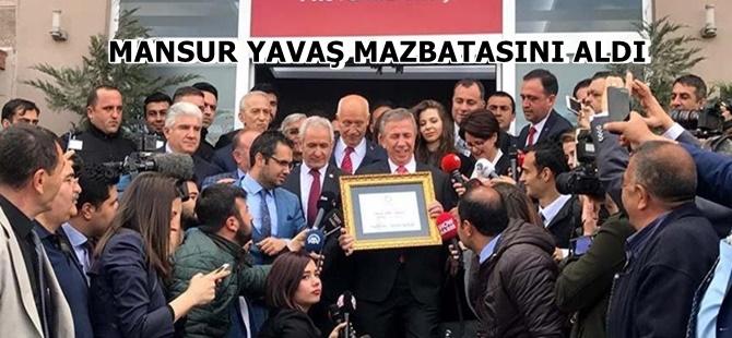 MANSUR YAVAŞ MAZBATASINI ALDI