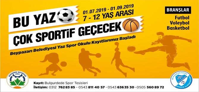 Beypazarı Belediyesi Yaz Spor Okulları Kayıtları Başladı