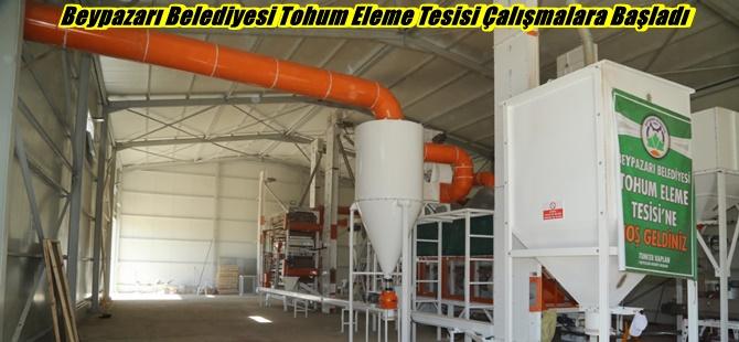 Beypazarı Belediyesi Tohum Eleme Tesisi Çalışmalara Başladı