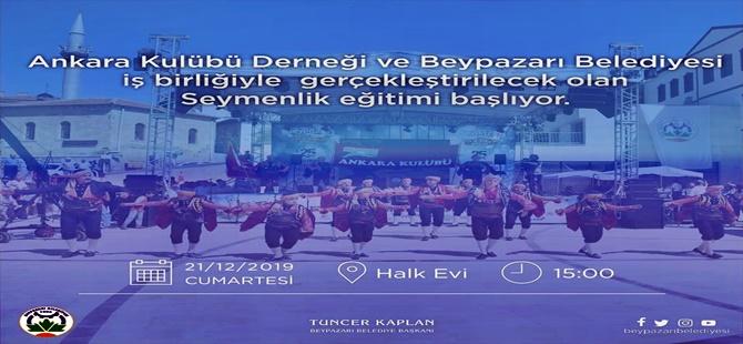 BEYPAZARI BELEDİYESİ '' SEYMENLİK '' EĞİTİMİNE BAŞLIYOR