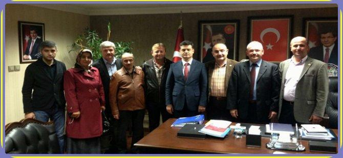 Beypazarı Belediyesi Ak Partili Meclis Üyeleri Ak Parti Ankara İl Başkanı Nedim Yamalı´yı ziyaret ettiler