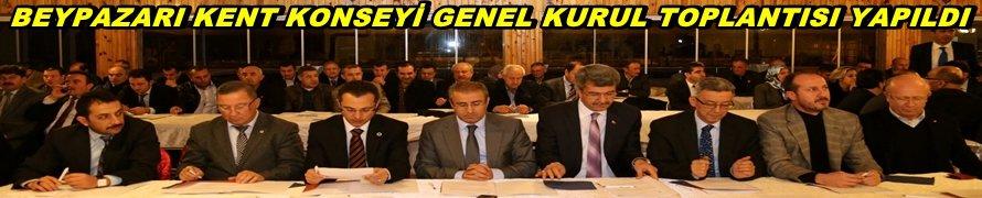 BEYPAZARI KENT KONSEYİ GENEL KURUL TOPLANTISI YAPILDI