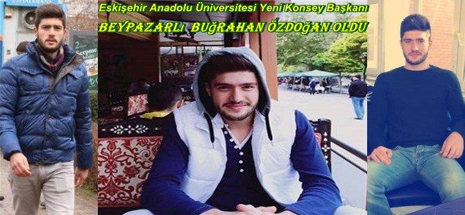 Eskişehir Anadolu Üniversitesi Yeni Konsey Başkanı  Beypazarlı  Buğrahan Özdoğan oldu.