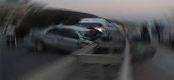 Beypazarı Hacılar Köprüsünde Trafik Kazası 1 Yaralı