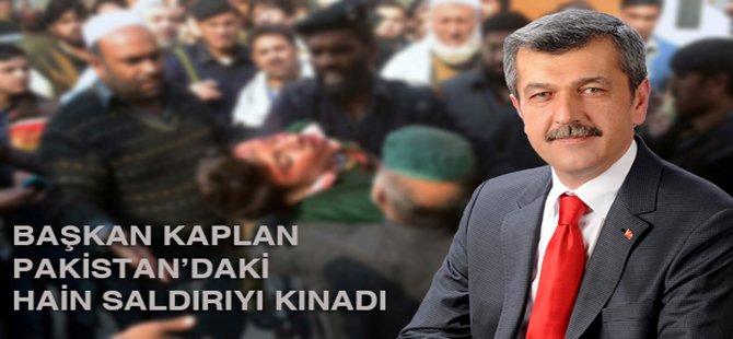 Beypazarı Belediye Başkanı Tuncer Kaplan Pakistan´da 145 kişinin hayatını kaybettiği saldırıyı kınadı