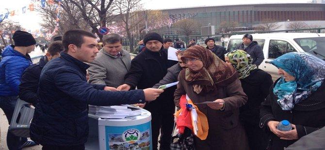 Beypazarı Belediyesi haftasonu Ankara´da kurduğu standlarda 40.000 adet Beypazarı kartpostalı dağıttı
