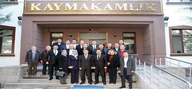 Ak Parti Beypazarı İlçe Başkanı Ali ÇAKIROĞLU ve Yönetim Kurulu Üyeleri Resmi Daireleri Gezdiler