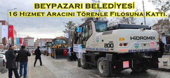Beypazarı Belediyesi, 16 Hizmet Aracını Törenle Filosuna Kattı.