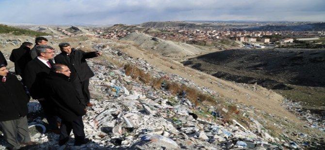 Eski Beypazarı çöplüğü içinde yapay göletinde yer alacağı, rekreasyon alanı olarak yeniden düzenlenecek