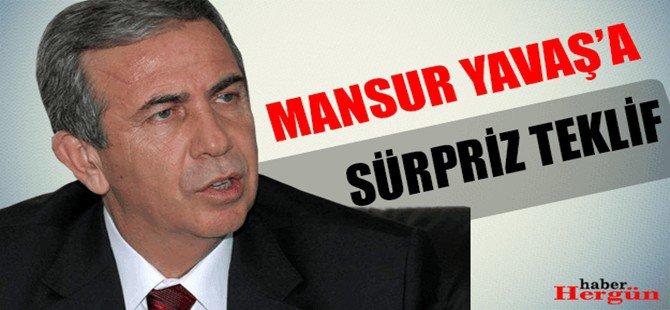 Mansur Yavaş'a Sürpriz Teklif