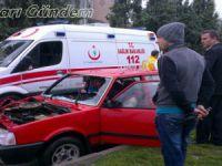 Beypazarı Kiler Kavşağında Trafik Kazası 1 Yaralı