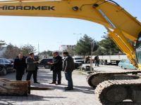 Beypazarı Belediye Başkanı Tuncer Kaplan Kültür merkezi çalışmalarını yerinde inceledi
