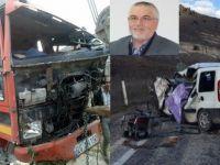 Trafik Kazasında 1 Kişi Öldü 1 Kişi de Yaralandı.