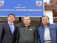 Yeni Emniyet müdürü Özer ŞİMDİ, Jandarma Komutanı Alişan ZOR'u ziyarette bulundu.