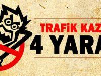 Beypazarı'nda Trafik Kazası, 4 kişi Yaralı