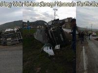 Beypazarı Uruş Yolu Yukarı Sanayi Yanında Trafik Kazası 5 Yaralı