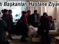 Ak Parti Başkanları ÇAKIROĞLU ve ERTÜRK Hastanede Hastaları Ziyaret Ettiler