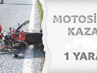 Beypazarı Ayvaşık Kavşağında Motorsiklet Kazası 1 Yaralı