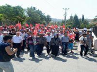 Güdül İlçesinde Şehide Saygı  PKK  Lanet Yürüyüşü Yapıldı
