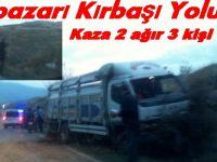 Beypazarı Kırbaşı Yolunda Trafik Kazası 2 Ağır 3 Yaralı